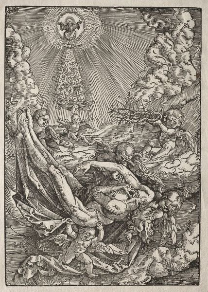 Christ Carried to Heaven by Angels, c. 1515-1517. Creator: Hans Baldung (German, 1484/85-1545)