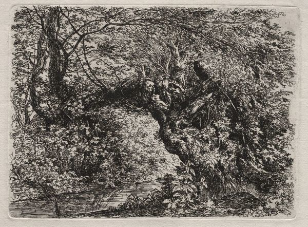 The Old Willow at a Brook, 1794. Creator: Georg von Dillis (German, 1759-1841)