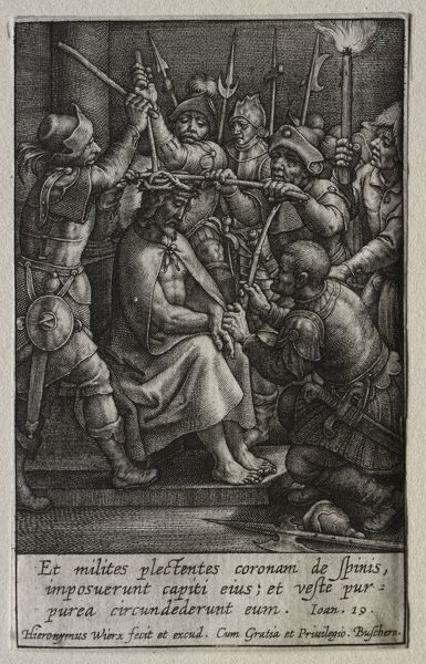 The Passion: The Crowning with Thorns. Creator: Hieronymus Wierix (Flemish, 1553-1619)