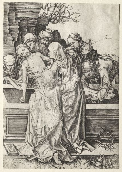 The Passion: The Entombment. Creator: Martin Schongauer (German, c.1450-1491)