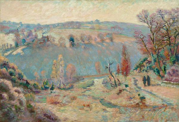 Valley of the Sédelle at Pont Charraud: White Frost, c.1903-1911. Creator: Armand Guillaumin