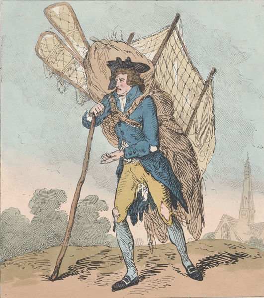 Aerostation out at Elbows, or The Itinerant Aeronaut, September 5, 1785