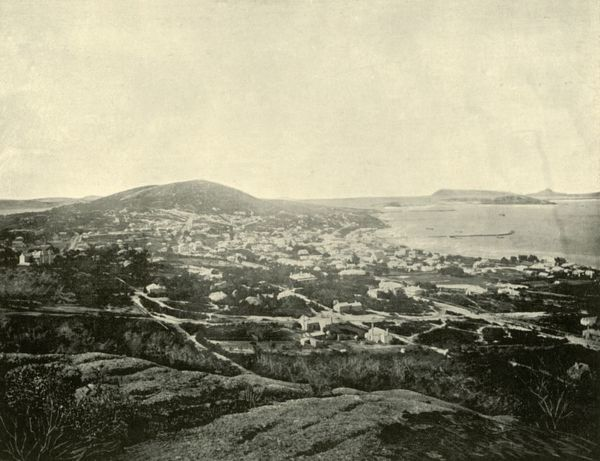 "'Albany, West Australia', 1901.Albany, the oldest colonial settlement in Western Australia, founded on 26 December 1826 as a military outpost of New South Wales. From ""Federated Australia"". [The Werner Company, London, 1901]"