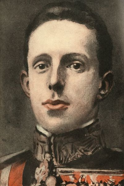 'Alfonso XIII., King of Spain', 1910. Portrait of Alfonso XIII (1886-1941). The posthumous son of Alfonso XII, Alfonso XIII was proclaimed king at his birth, although his mother, Queen Maria Christina, ruled as regent until he reached the age of 16