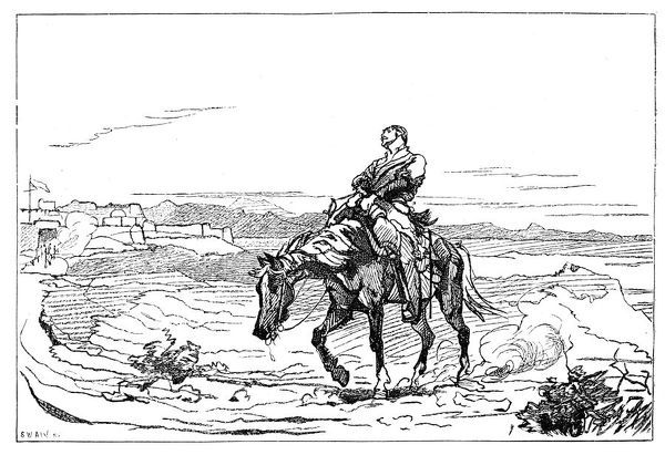 Arrival of Dr Brydon at Jalalabad, 13 January 1842, (1900). Artist: Unknown