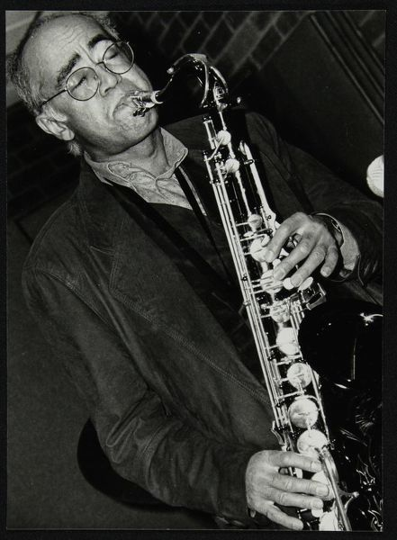 Art Themen playing tenor saxophone with the Ted Beament Trio at The Fairway, Welwyn Garden City, Hertfordshire, 28 November 1993