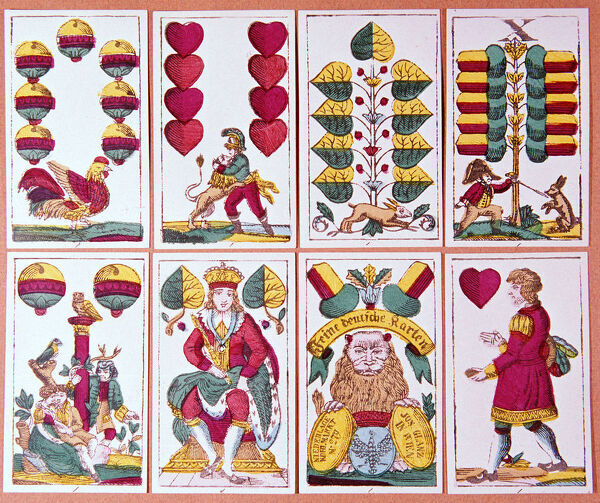 Austrian fortune-telling cards. Artist: Unknown