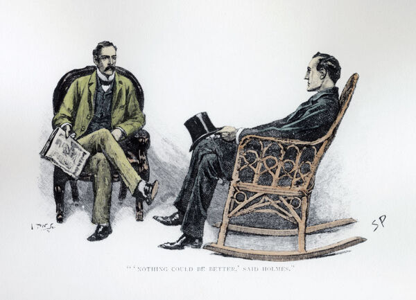 ''Nothing could be Better'' said Holmes', 1893. Illustration from The Stockbrokers Clerk by Arthur Conan Doyle, published in Strand Magazine March 1893