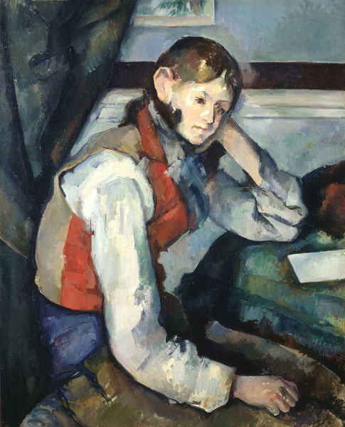 The Boy in the Red Vest (Le garçon au gilet rouge), 1888-1890. Found in the Collection of Foundation E. G. Bührle Collection, Zurich