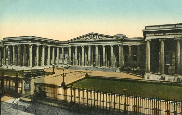 The British Museum, London, c1910. The British Museum in Holborn houses an internationally important collection. It was established in 1753. Postcard. [Valentine's Series]
