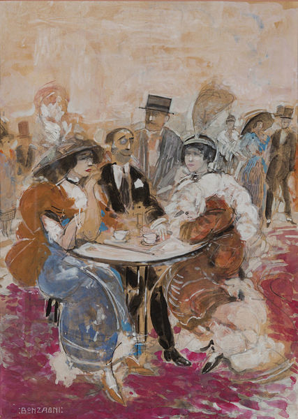 In a café, 1912. Private Collection