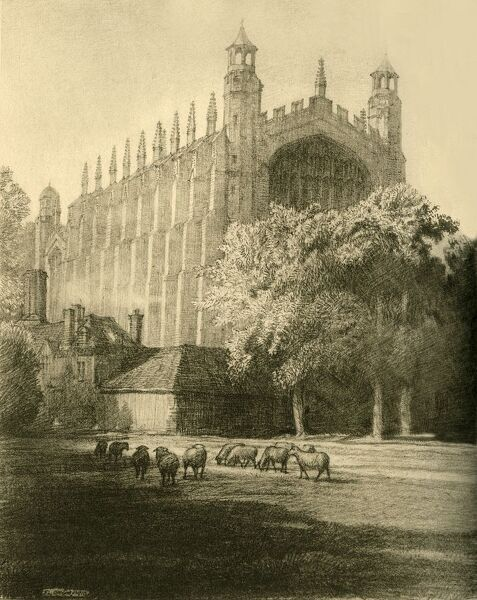 "'The Chapel from the South East', 1911. Eton College Chapel built in late Gothic or Perpendicular style. From ""A History of Eton College (1440-1910)"", by Sir H. C Maxwell Lyte, K.C.B. [Macmillan and Co. Limited, London, 1911]"