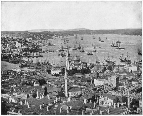 Constantinople and the Bosphorus, Turkey, late 19th century.Artist: John L Stoddard