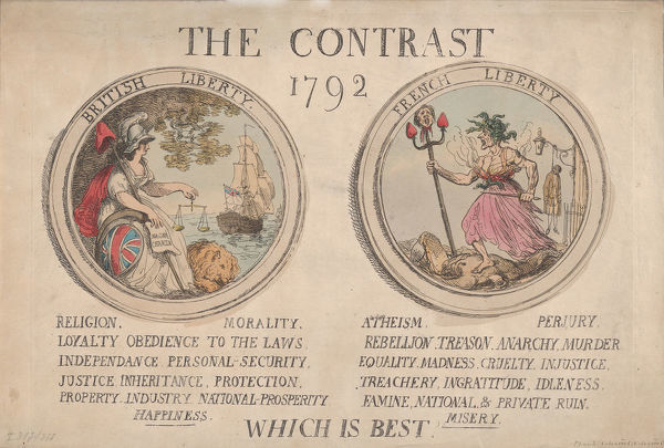 The Contrast, December 1792., December 1792. Creator: Thomas Rowlandson