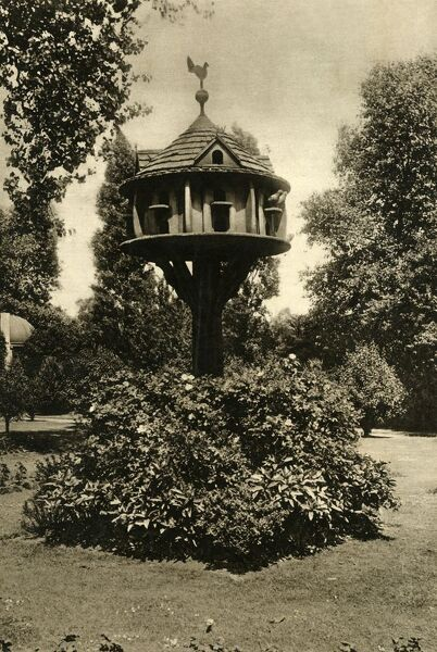 'A Dovecote - A capacious Cote of good design in the garden of the Dowager Marchioness of Bute, St. John's Lodge, Regent's Park', 1920. The first villa to be built in Regents Park in 1812, the lease was acquired by the John Crichton-Stuart, 3rd Marquess of Bute in 1889