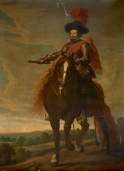 Equestrian Portrait of Gaspar de Guzmán, Count-Duke of Olivares (1587-1645), First Half of 17th cen.. Private Collection