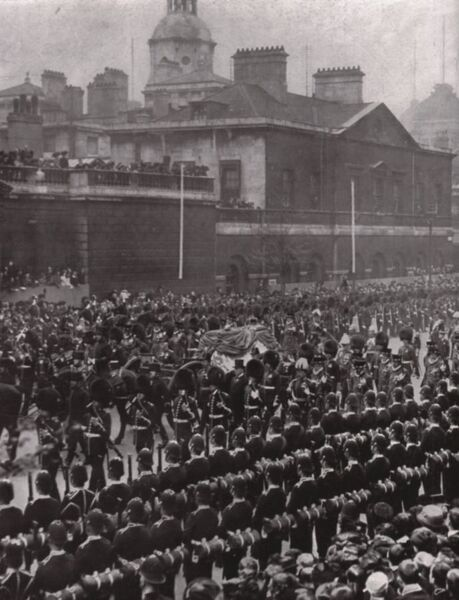 Funeral procession of King Edward VII, Whitehall, London, 20 May 1910