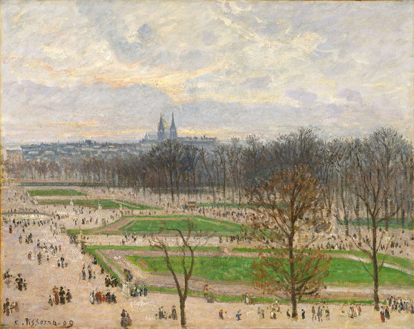 The Garden of the Tuileries on a Winter Afternoon, 1899. Creator: Camille Pissarro