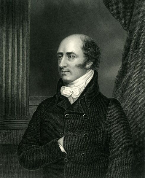 "'George Canning', c1810, (c1884). George Canning (1770-1827) British Tory educated at Eton College and Christ Church, Oxford. Served as Prime Minister for the last four months of his life during reign of George IV. From ""Leaders of the Senate"