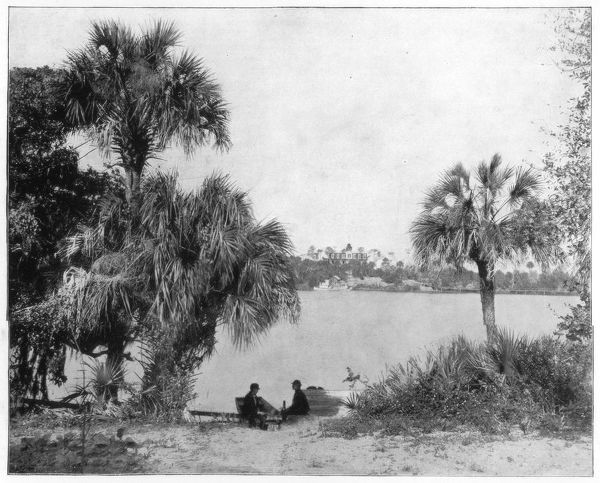Indian River, Florida, late 19th century. Photograph from Portfolio of Photographs, of Famous Scenes, Cities and Paintings by John L Stoddard, published by the Werner Company, (Chicago, c1899)