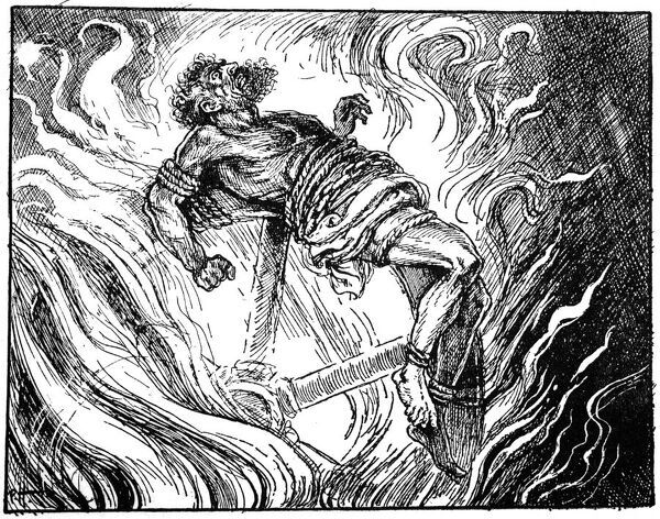 Ixion on the wheel, 1925. Artist: Unknown