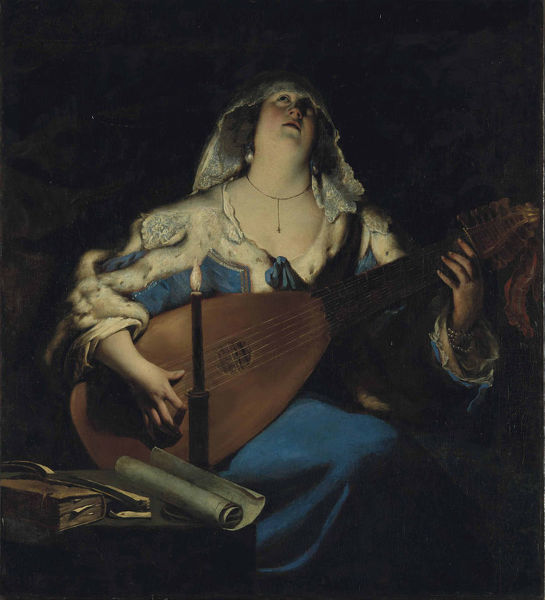 The Lute Player. Private Collection
