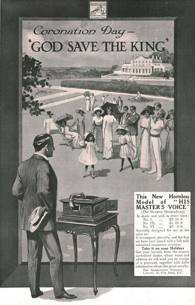 'His Master's Voice' advertisement, 1911