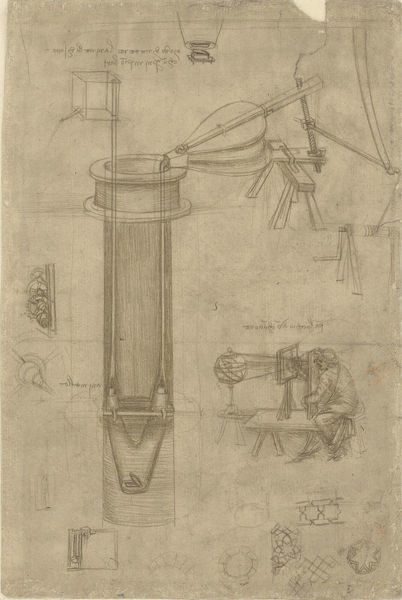 Perspectograph (optical instrument), Between 1480 and 1518. Found in the Collection of Veneranda Biblioteca Ambrosiana