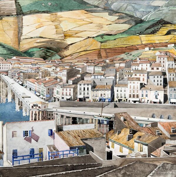 'Port Vendres, La Ville', c1925. Artist: Charles Rennie Mackintosh