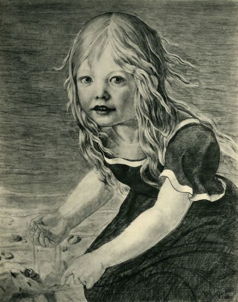 "Portrait of the artist's daughter, Marie, at the coast, 1816, (1943). Drawing in a private collection. From ""Europaische Handzeichnungen"", (Five Hundred Years of European Drawings), by Bernhard Degenhart. [Atlantis-Verlag Berlin, Zurich"