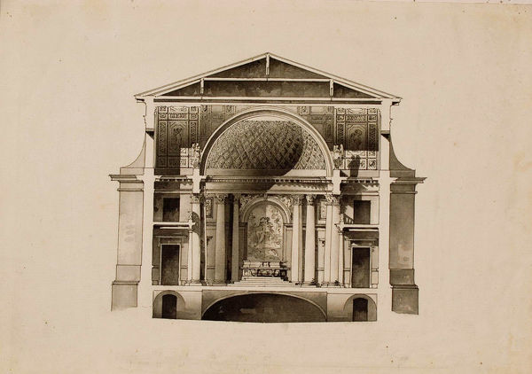 Project of the Maltese Chapel at the Vorontsov Palace in Saint Petersburg, 1798-1800