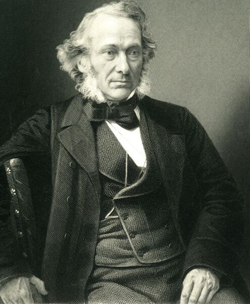 'Richard Cobden', c1850, (c1884). Richard Cobden (1804-1865) English manufacturer, Radical and Liberal statesman, educated locally with further study at the London Institution. An advocate for free trade, he founded the Anti-Corn Law League with John Bright