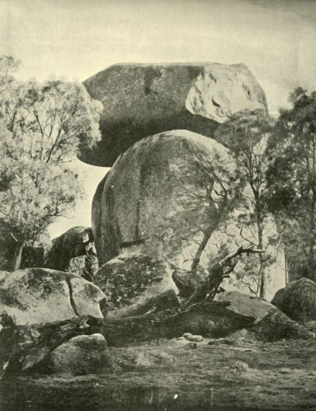 'Robin's Look-Out, Yeashire', 1901. The Shire of Yea, northeast of Melbourne, in Victoria, Australia was originally inhabited by the Taungurong people, it was first visited by Europeans of the Hume and Hovell expedition in 1824
