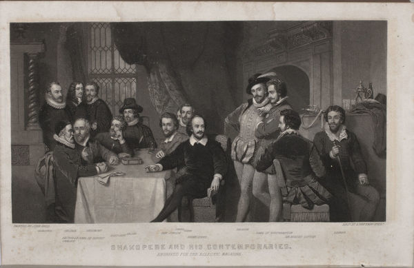 Shakespeare and His Contemporaries (after John Faed), 1860