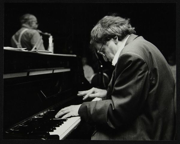 Stan Tracey (piano) and Art Themen (tenor saxophone) playing at The Fairway, Welwyn Garden City, Hertfordshire, 12 April 1992