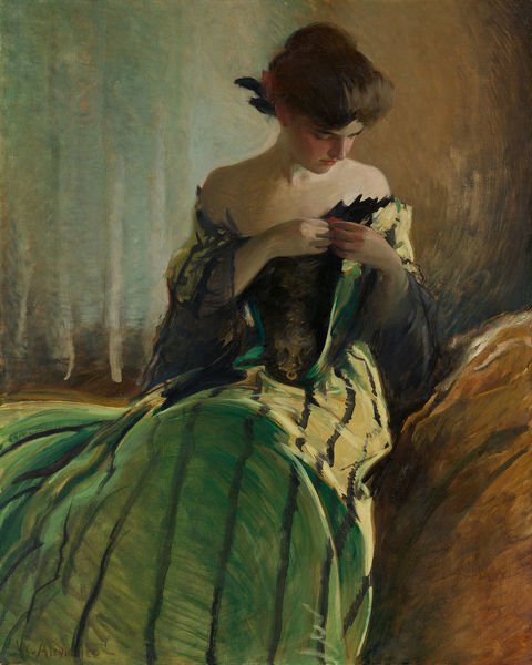 Study in Black and Green, 1906. Creator: John White Alexander
