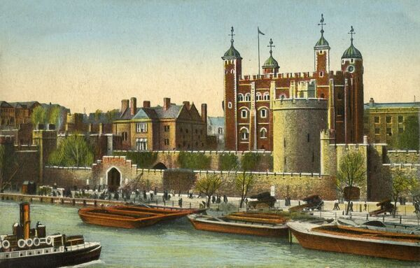 The Tower of London, c1910. London's famous prison, castle and armoury, dating from the 11th century. Postcard