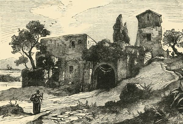 "'View from the Gardens of Sallust', 1890. From ""Cassell's Illustrated Universal History Vol. II - Rome"", by Edmund Ollier. [Cassell and Company, Limited, London, Paris and Melbourne, 1890]"