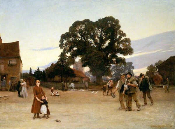 'Our Village', c1890, (1936). Creator: Hubert von Herkomer