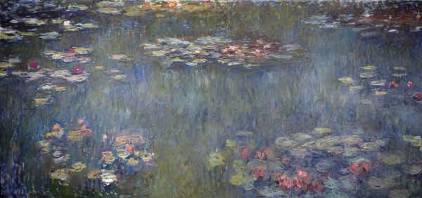 Waterlilies Pond, Green Reflection (Le Bassin aux nymphéas, reflets verts), 1920-1925. Found in the Collection of Foundation E. G. Bührle Collection, Zurich