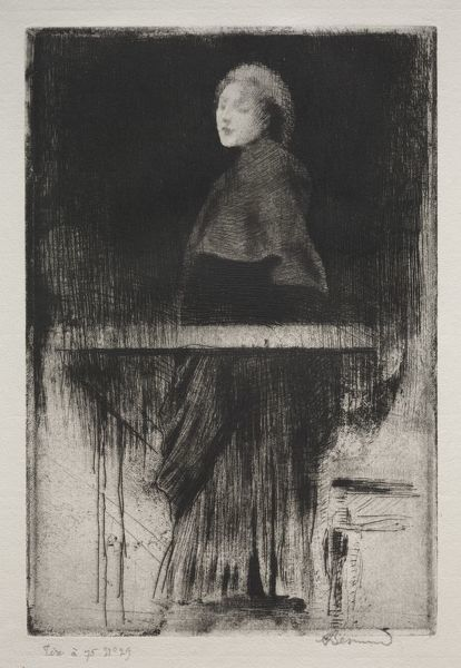 Woman with a Cape, 1889. Creator: Albert Besnard (French, 1849-1934)