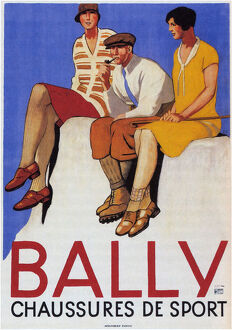 fathers day/bally sports shoes 1928 artist cardinaux emil