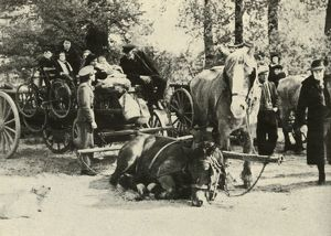 'Belgian Refugees on the Road', 1939-1940, (1941). Creator: Unknown