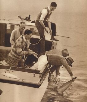 fathers day/big game fishing bay islands new zealand c1927