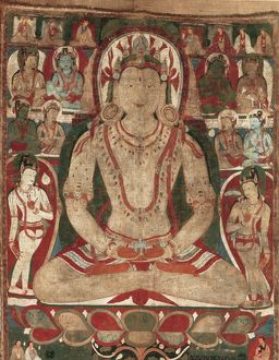 The Buddha Amitayus Attended by Bodhisattvas, 11th or early 12th century. Creator: Unknown
