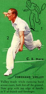 'C. E. Hare - Forehand Volley', c1935. Creator: Unknown