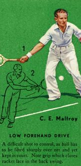 'C. E. Malfroy - Low Forehand Drive', c1935. Creator: Unknown