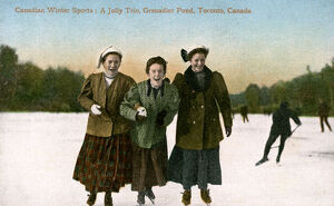 sporty/canadian winter sports jolly trio grenadier pond