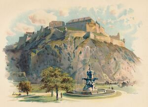 best british/the castle rock edinburgh c1890 artist charles