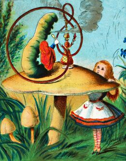 alice wonderland/the caterpillar mushroom c1900 artist unknown